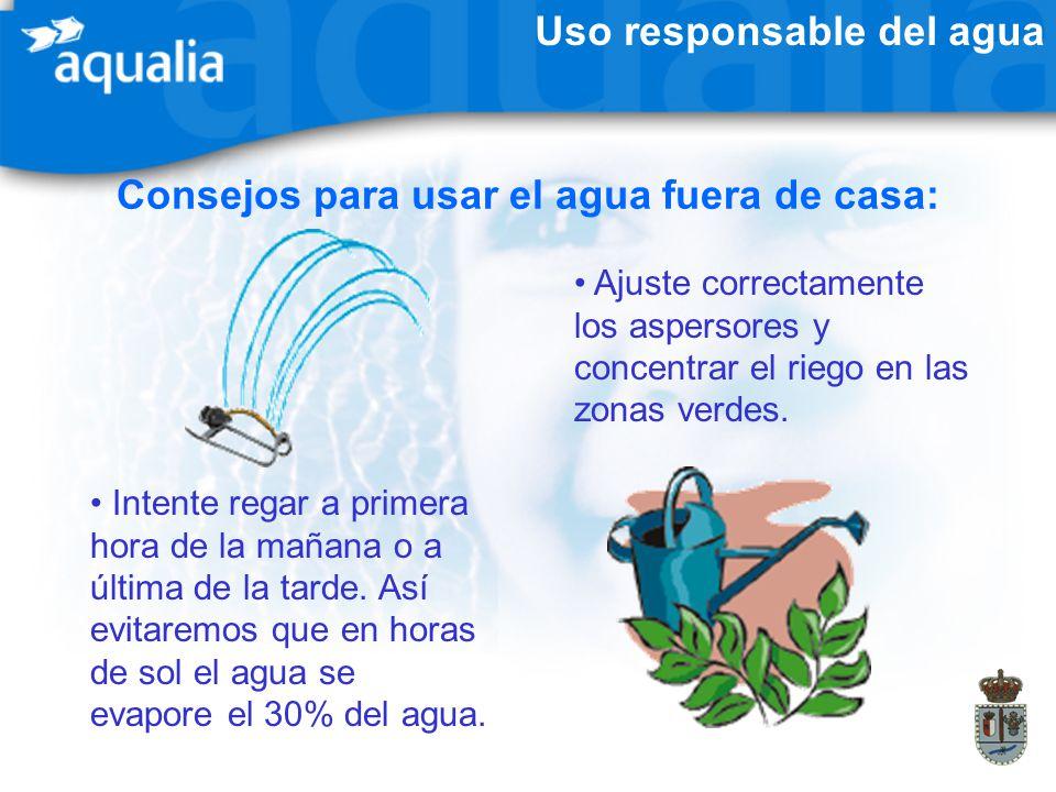 Consejos para usar el agua fuera de casa: