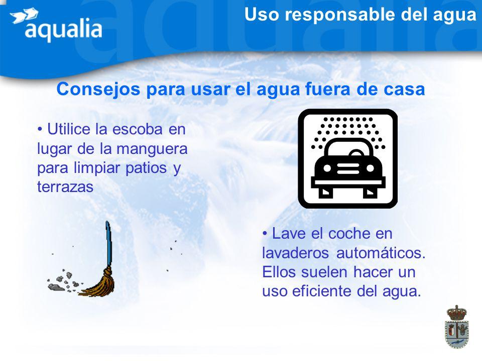 Consejos para usar el agua fuera de casa