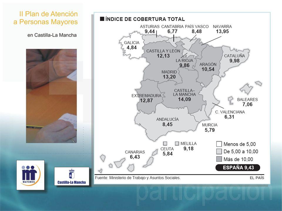 En general, creo que Castilla-la Mancha (también, porque hay que reconocerlo, todas las Comunidades Autónomas) ha hecho un importante esfuerzo por incrementar todos los recursos destinados a atender a las personas en situación de dependencia. Un esfuerzo del que nos sentimos especialmente orgullosos cuando vemos la comparativa entre regiones.