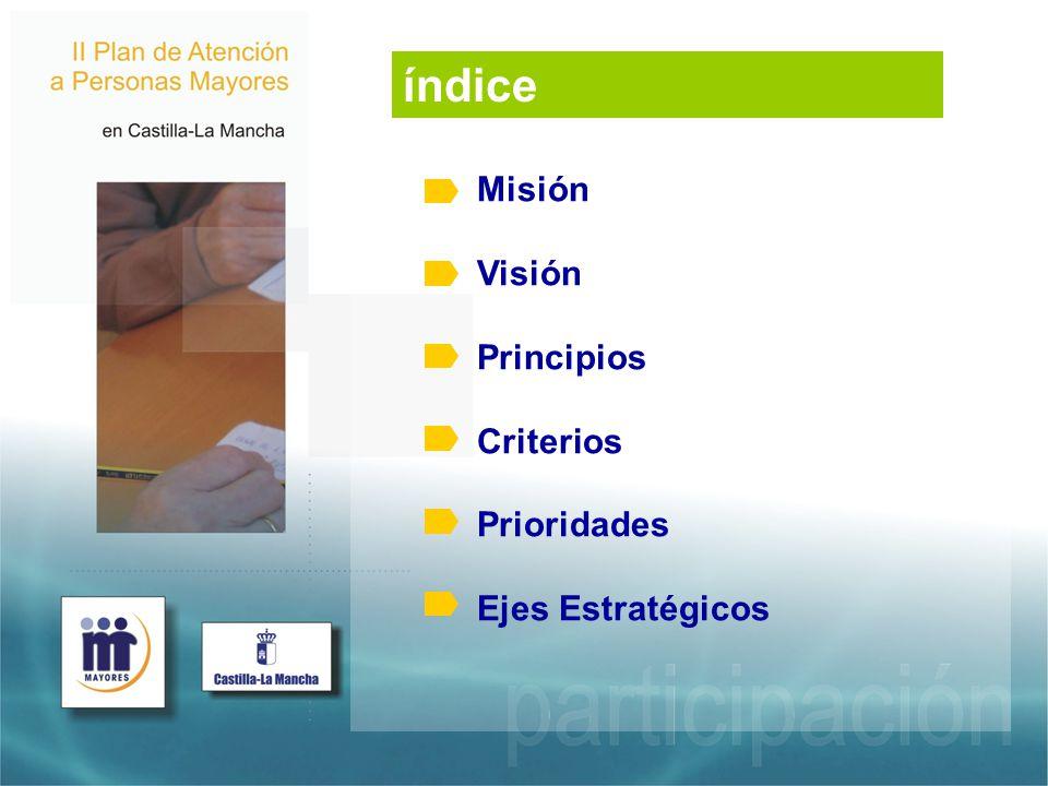 índice Misión Visión Principios Criterios Prioridades