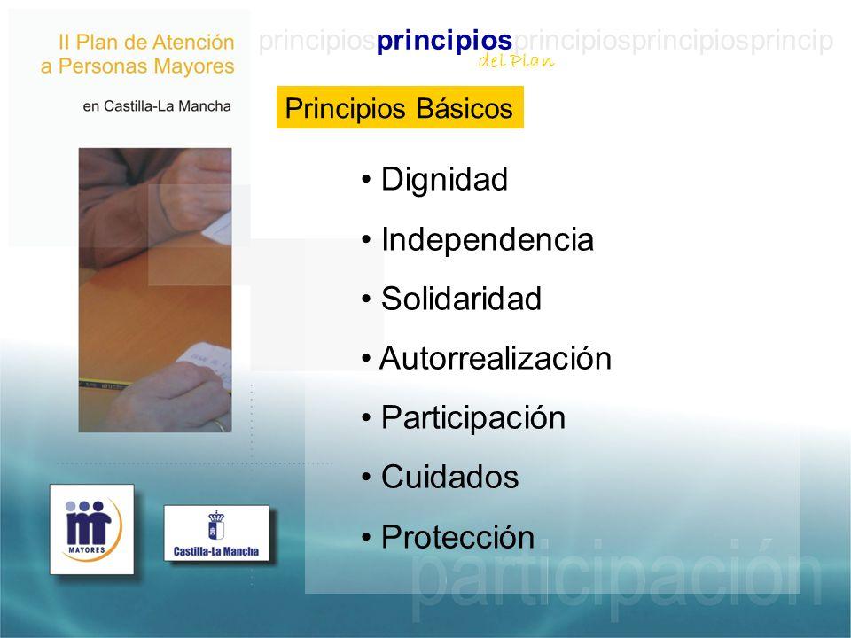 Dignidad Independencia Solidaridad Autorrealización Participación