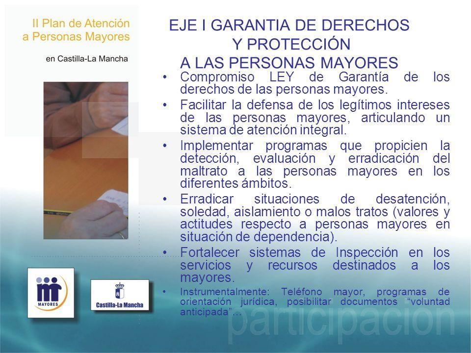 EJE I GARANTIA DE DERECHOS Y PROTECCIÓN A LAS PERSONAS MAYORES