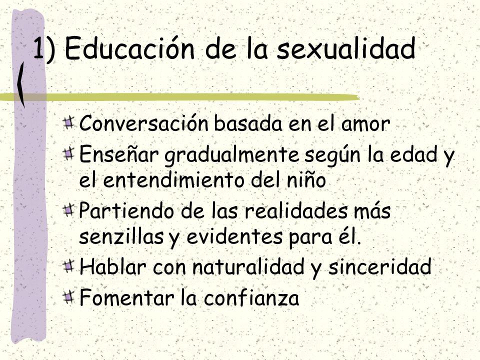 1) Educación de la sexualidad