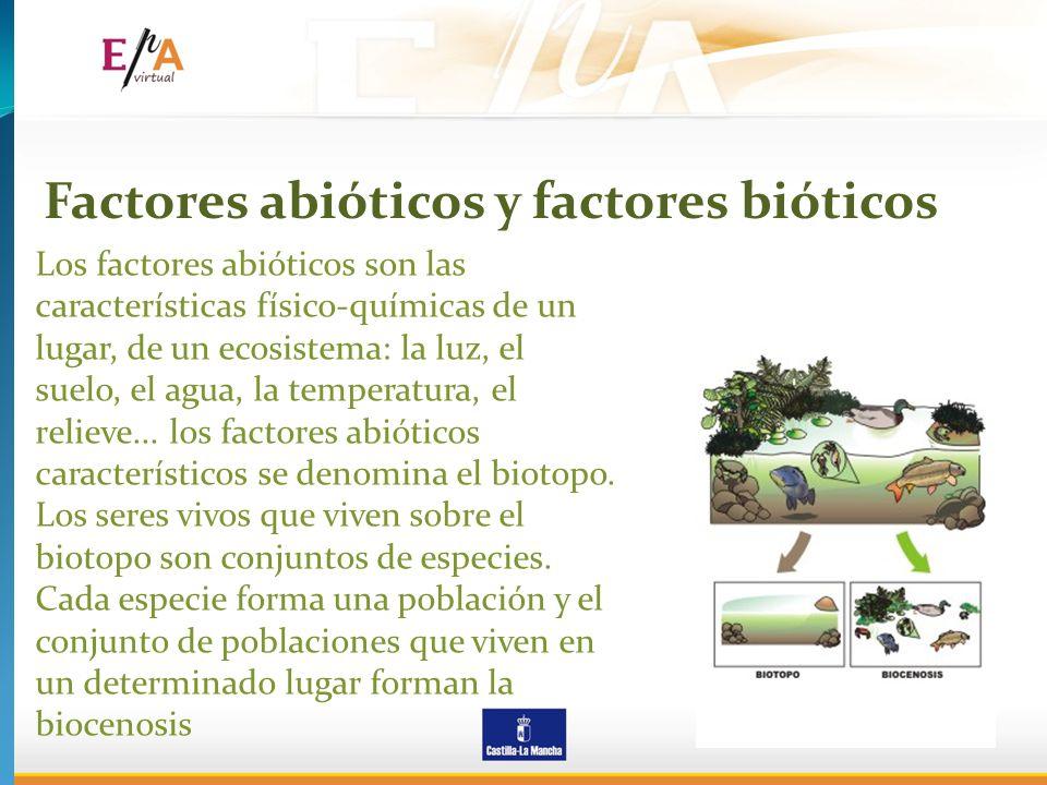 Factores abióticos y factores bióticos