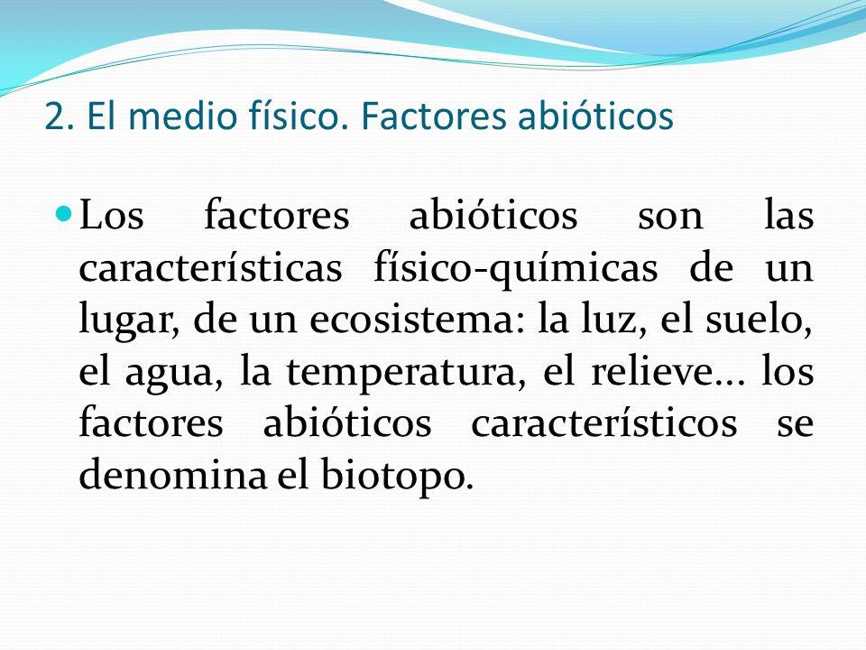 2. El medio físico. Factores abióticos