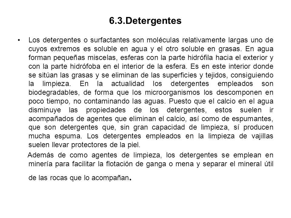 6.3.Detergentes