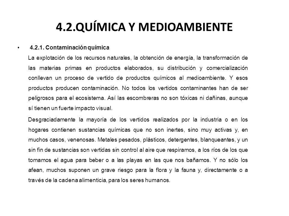 4.2.QUÍMICA Y MEDIOAMBIENTE