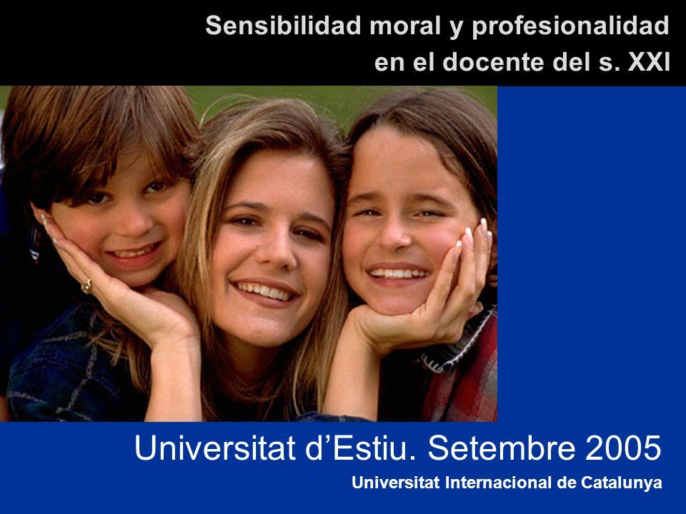 Sensibilidad moral y profesionalidad en el docente del s. XXI