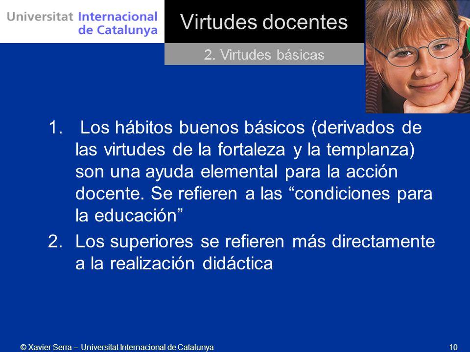 Virtudes docentes 2. Virtudes básicas.