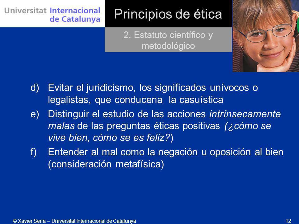 2. Estatuto científico y metodológico