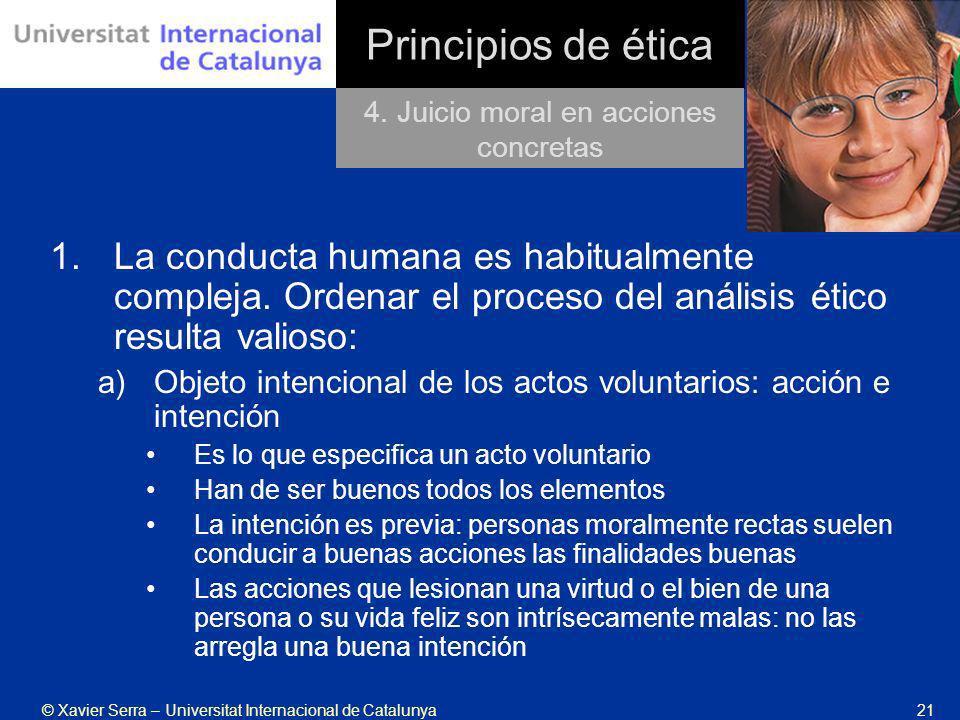4. Juicio moral en acciones concretas