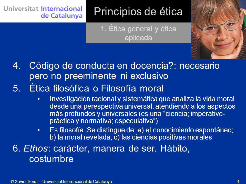 1. Ética general y ética aplicada