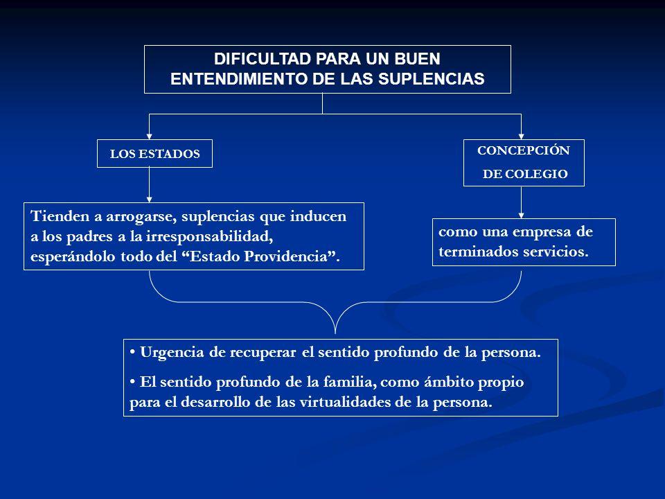 DIFICULTAD PARA UN BUEN ENTENDIMIENTO DE LAS SUPLENCIAS