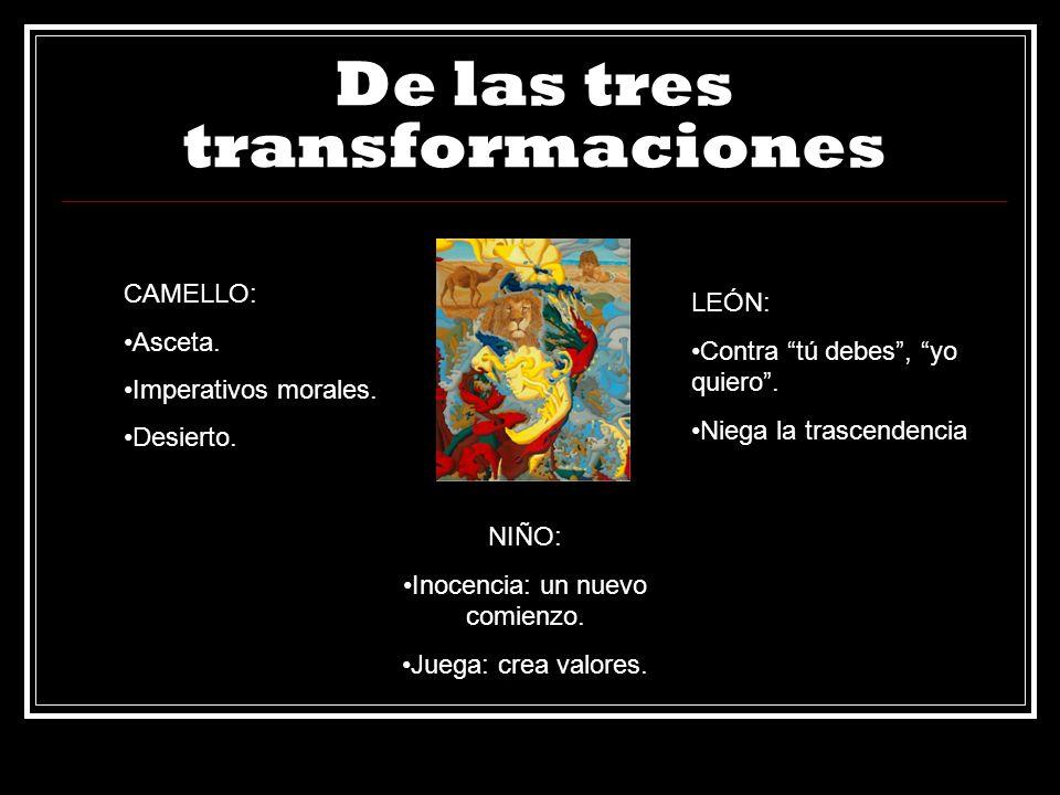 De las tres transformaciones