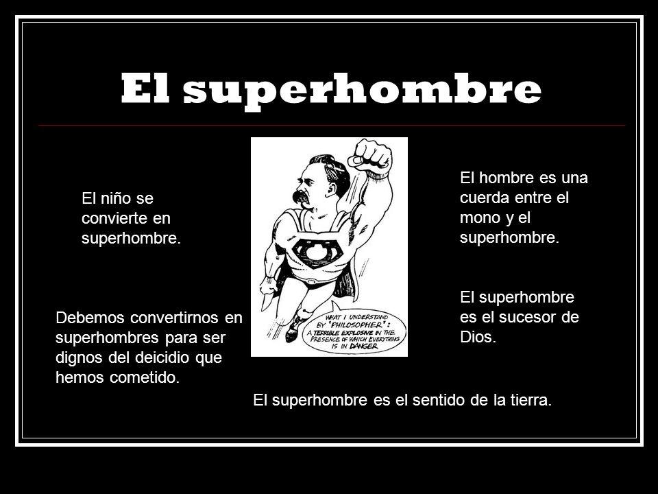 El superhombre El hombre es una cuerda entre el mono y el superhombre.