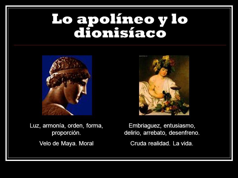 Lo apolíneo y lo dionisíaco