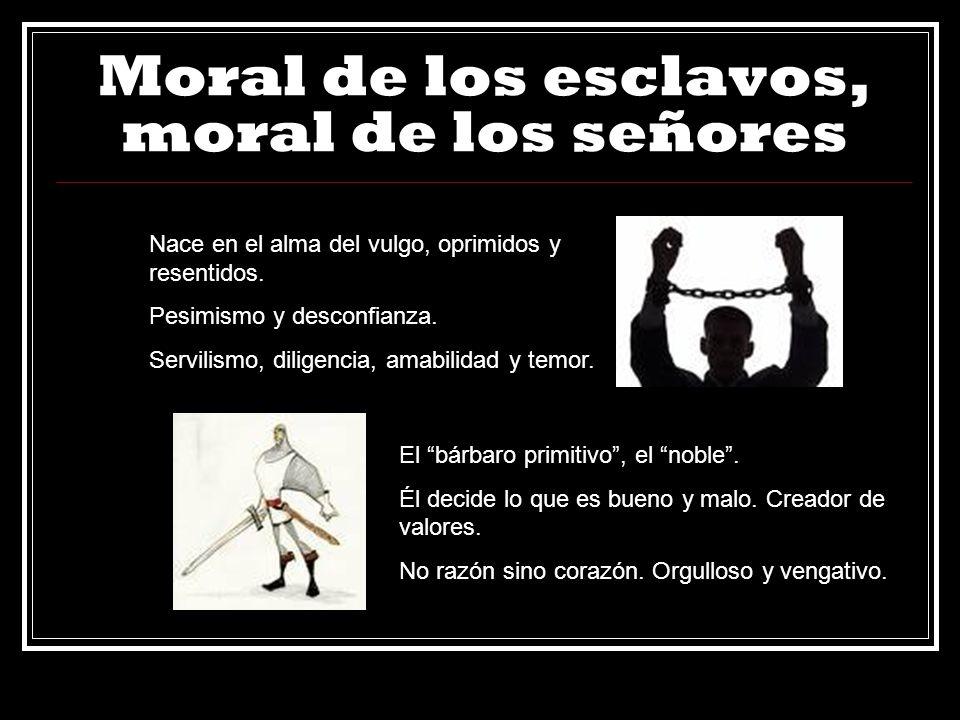 Moral de los esclavos, moral de los señores