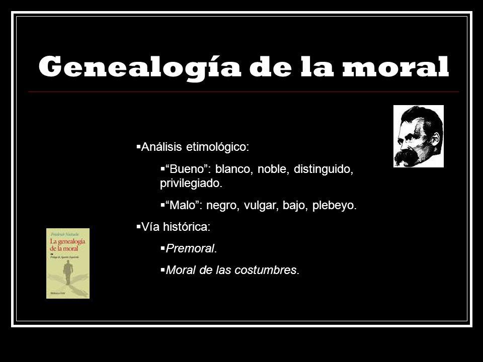 Genealogía de la moral Análisis etimológico: