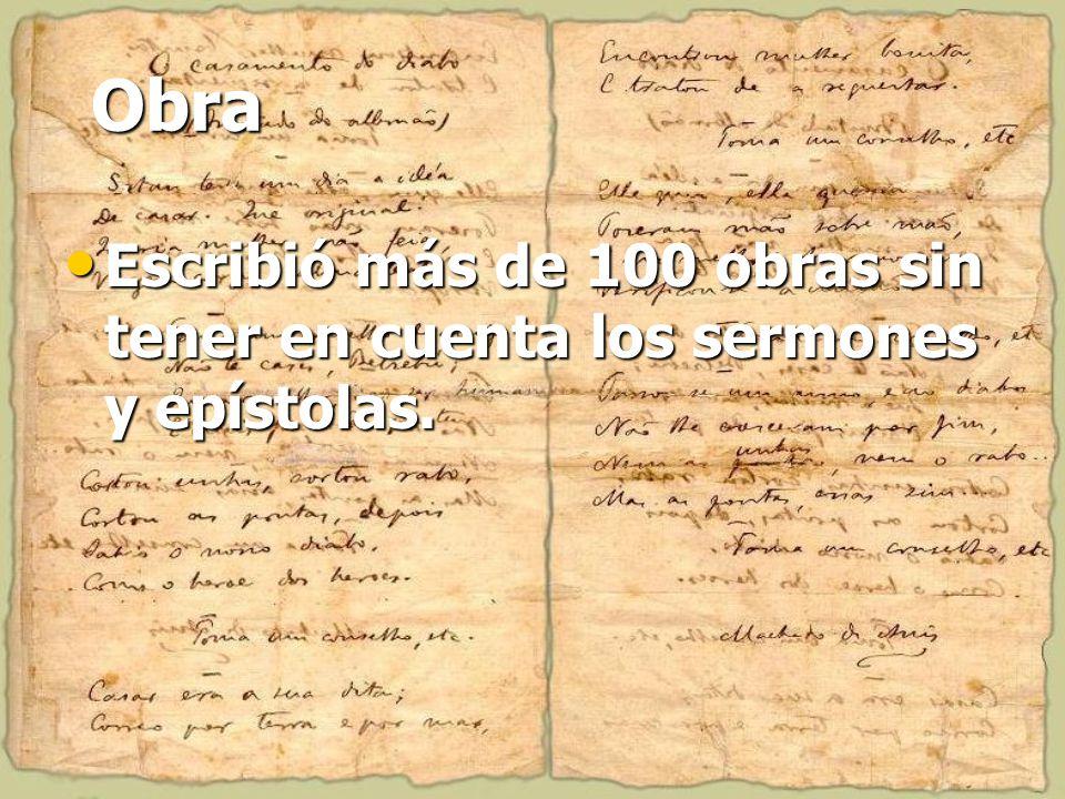Obra Escribió más de 100 obras sin tener en cuenta los sermones y epístolas.