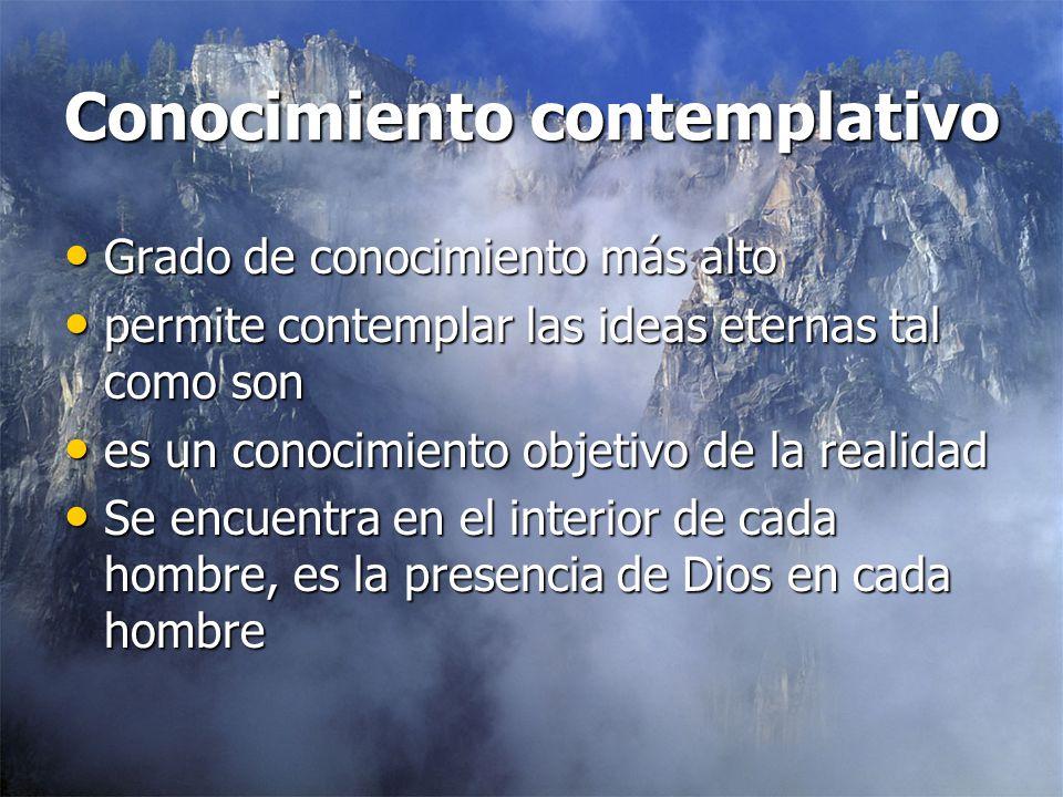 Conocimiento contemplativo