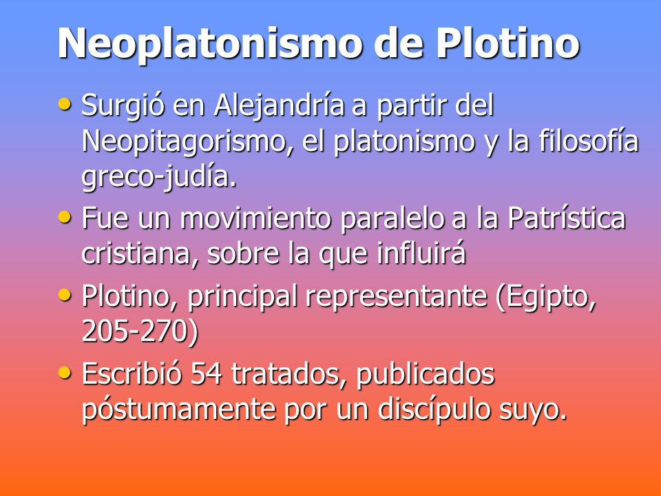 Neoplatonismo de Plotino