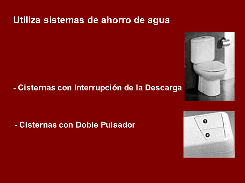 - Cisternas con Doble Pulsador