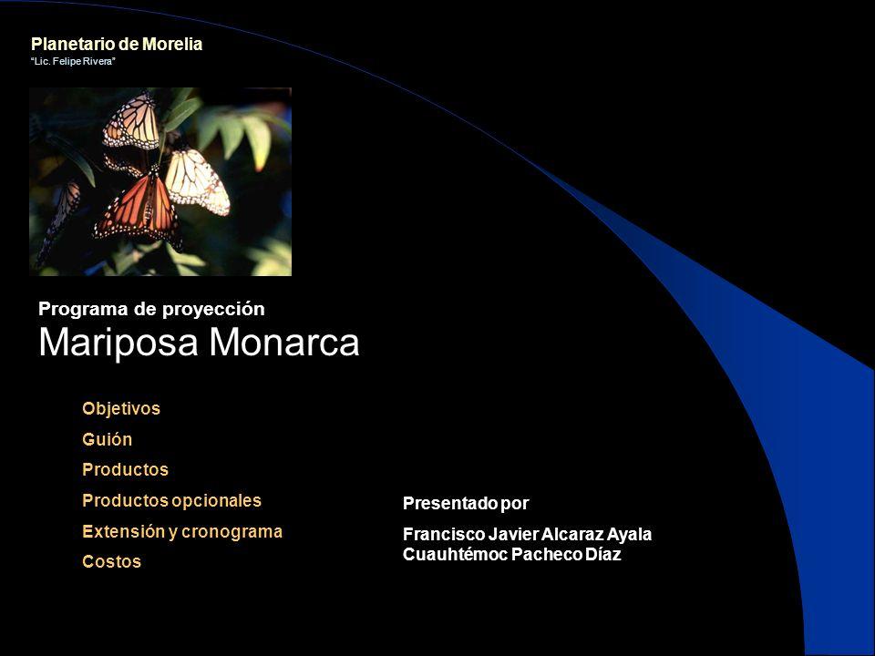Mariposa Monarca Programa de proyección Planetario de Morelia