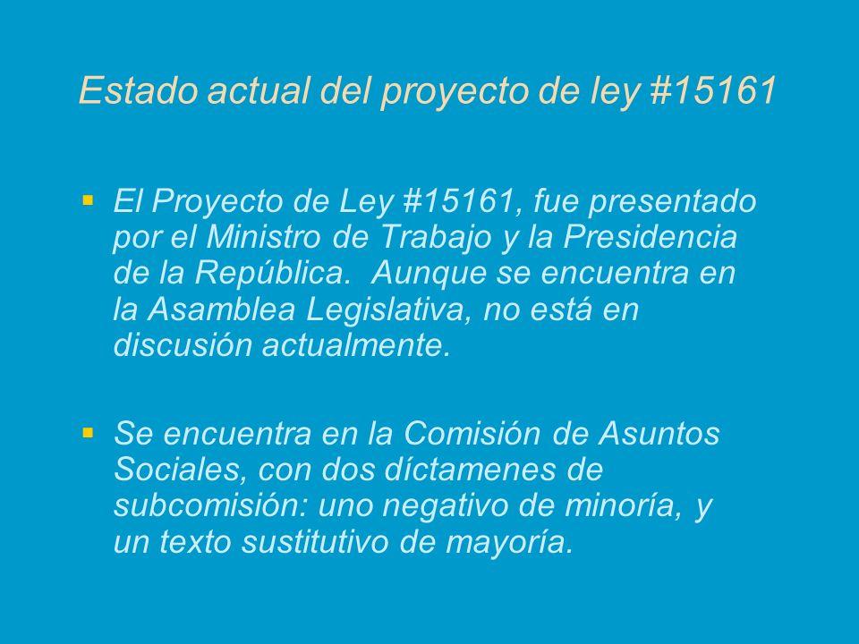 Estado actual del proyecto de ley #15161