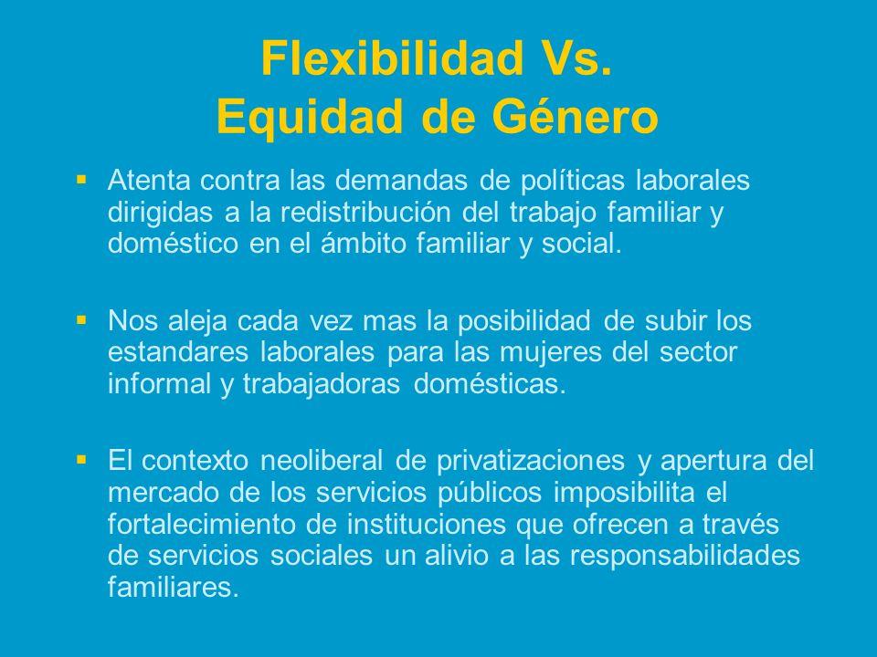 Flexibilidad Vs. Equidad de Género