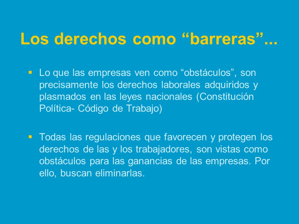 Los derechos como barreras ...