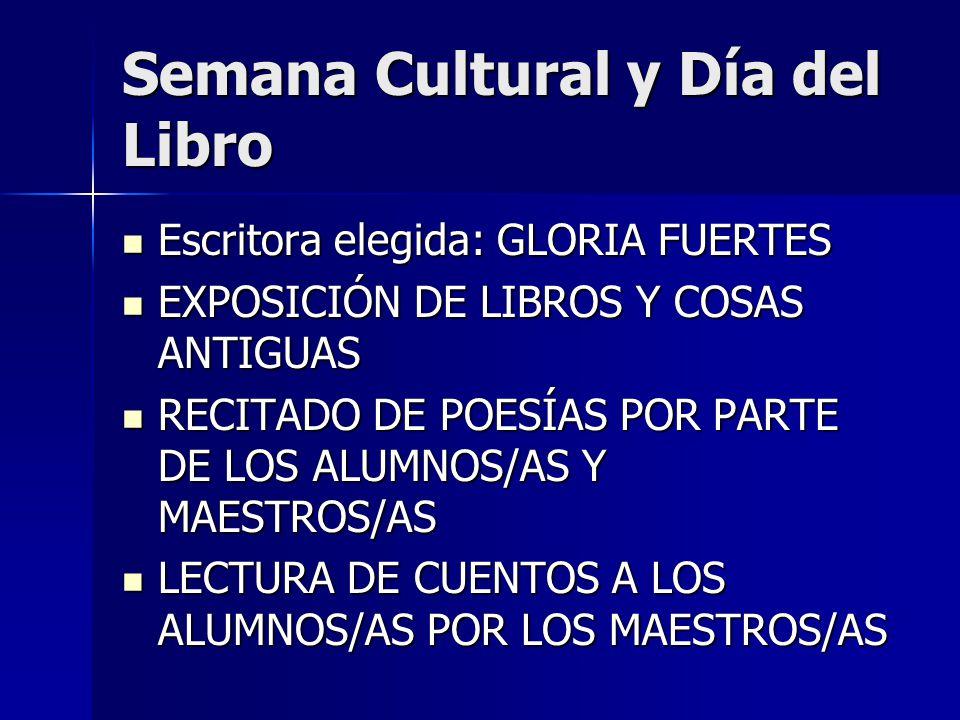 Semana Cultural y Día del Libro