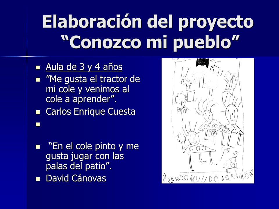 Elaboración del proyecto Conozco mi pueblo
