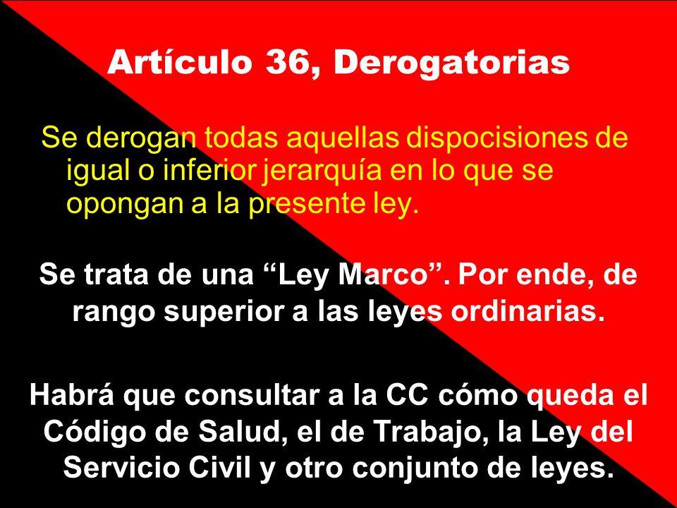 Artículo 36, Derogatorias
