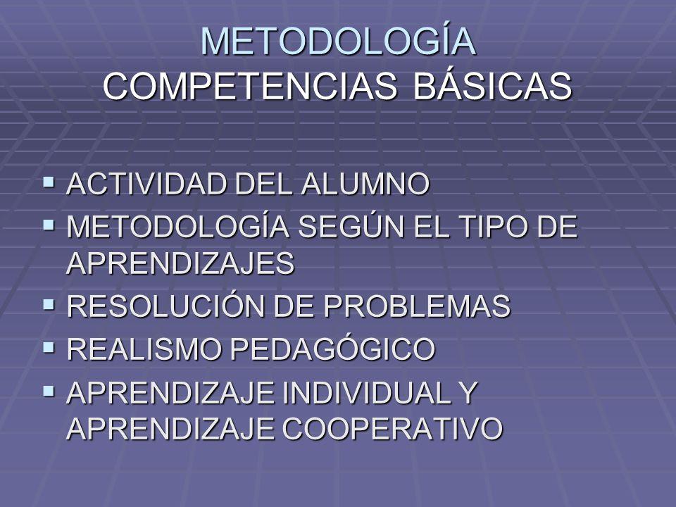 METODOLOGÍA COMPETENCIAS BÁSICAS