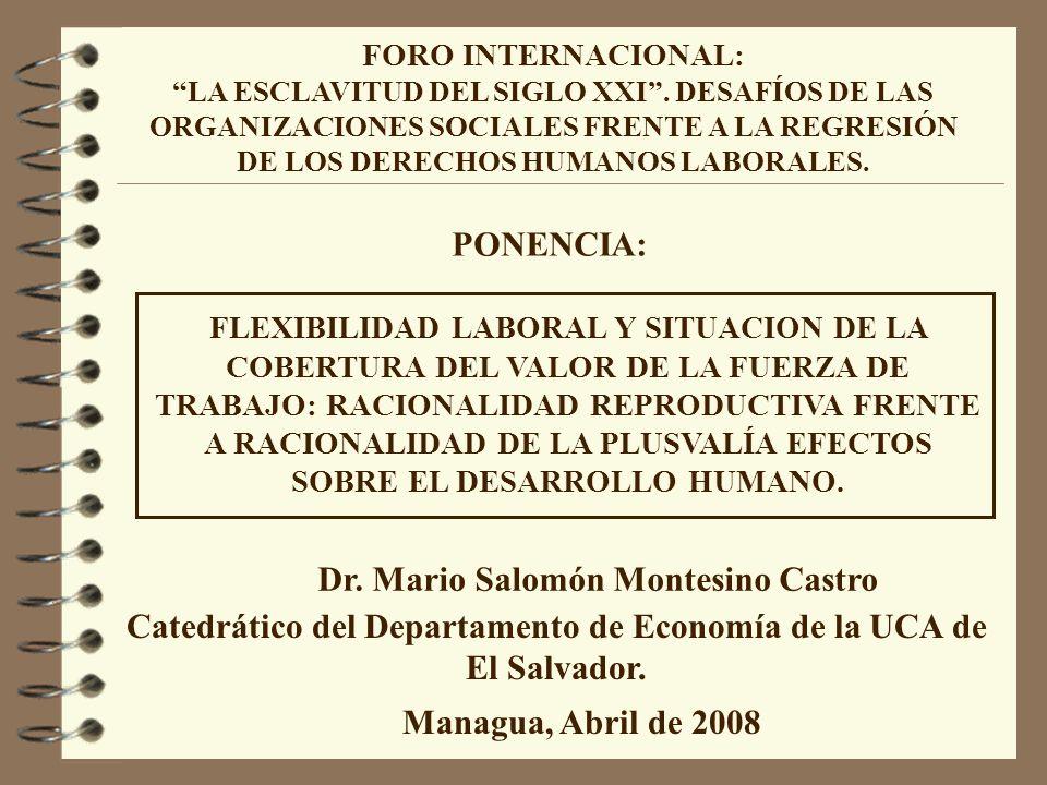 Catedrático del Departamento de Economía de la UCA de El Salvador.