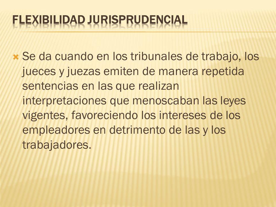 FLEXIBILIDAD JURISPRUDENCIAL