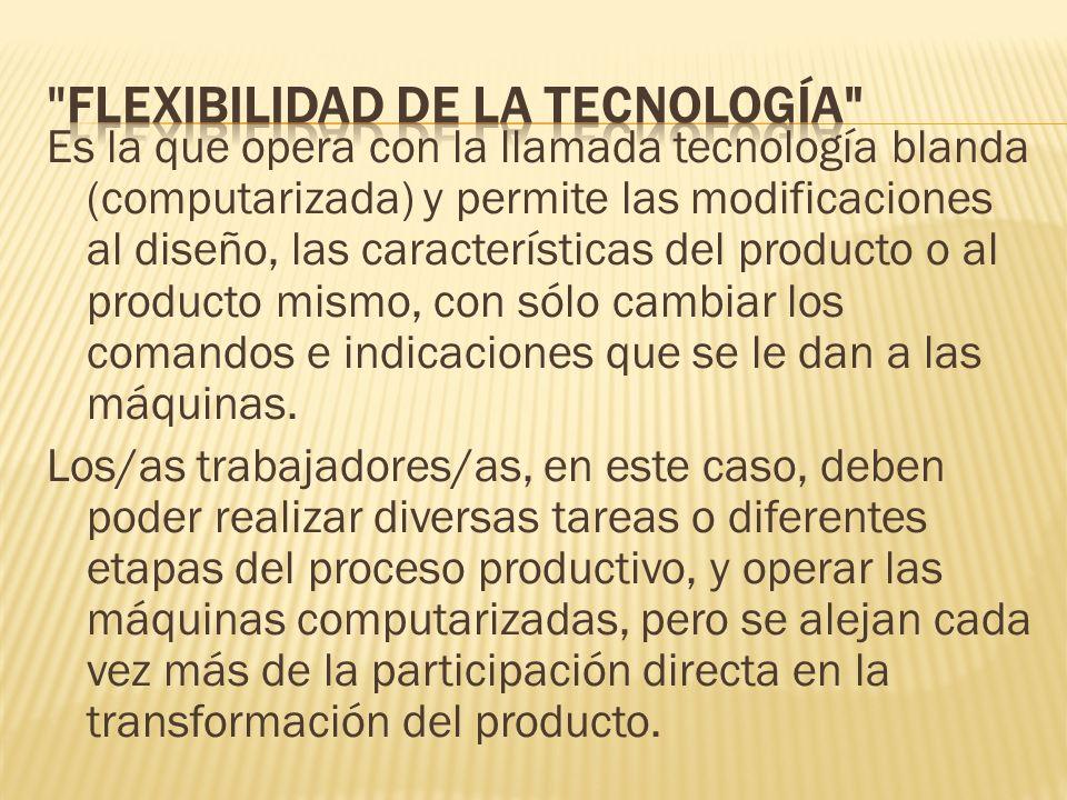 flexibilidad de la tecnología