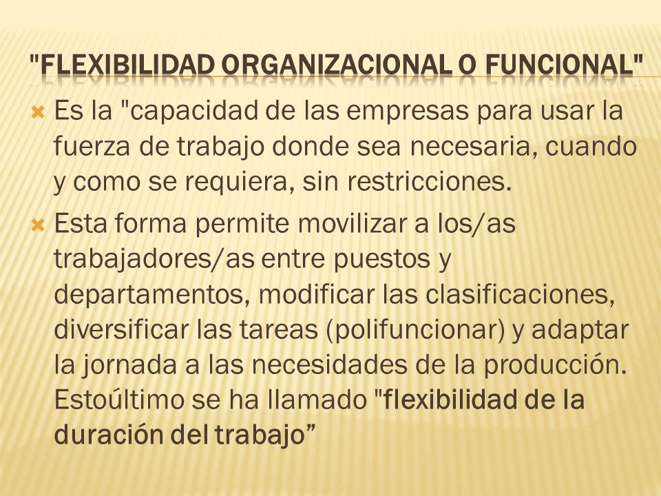 flexibilidad organizacional o funcional