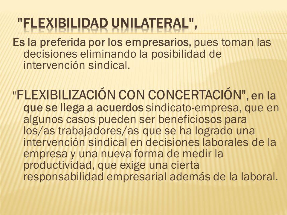 flexibilidad unilateral ,