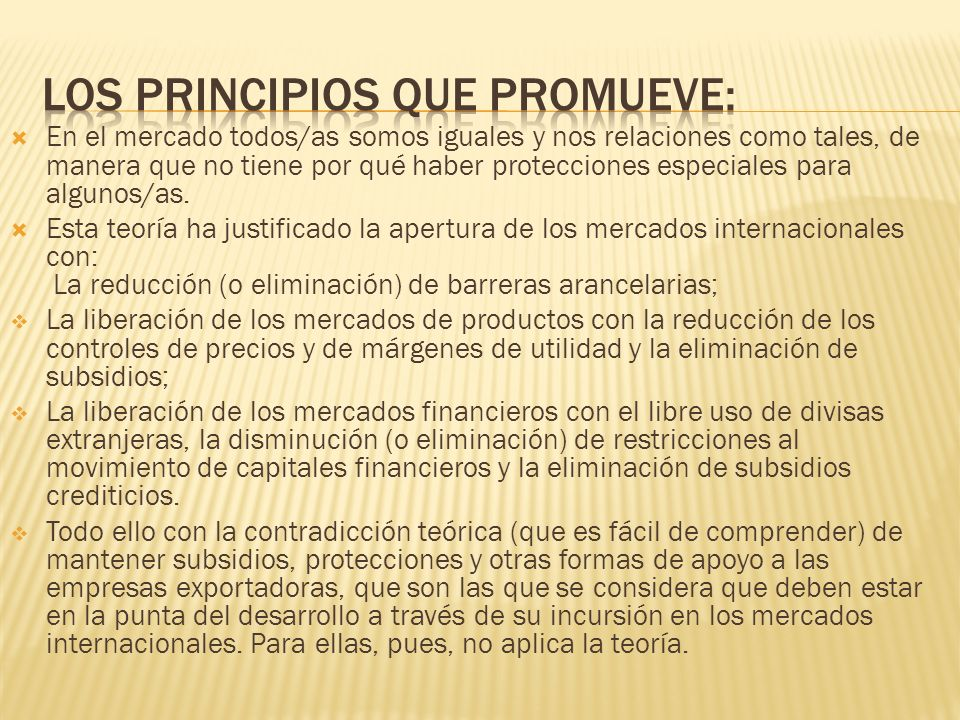 Los principios que promueve: