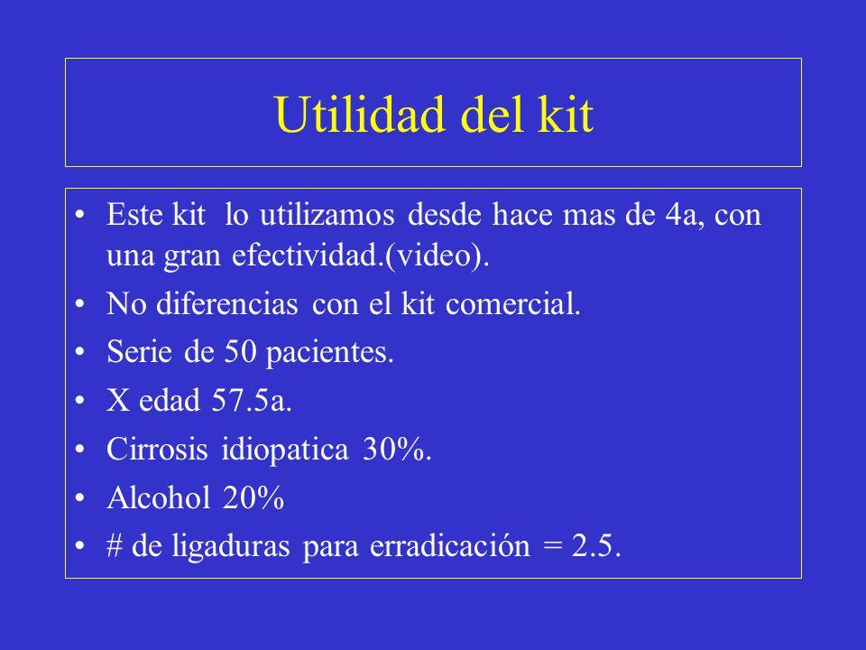 Utilidad del kit Este kit lo utilizamos desde hace mas de 4a, con una gran efectividad.(video). No diferencias con el kit comercial.