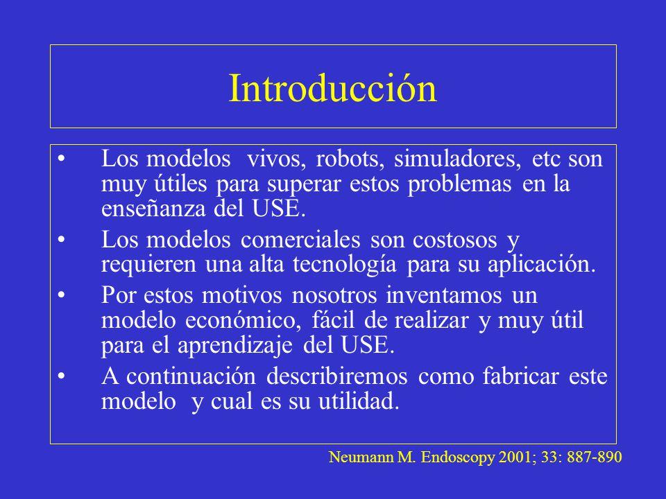 Introducción Los modelos vivos, robots, simuladores, etc son muy útiles para superar estos problemas en la enseñanza del USE.