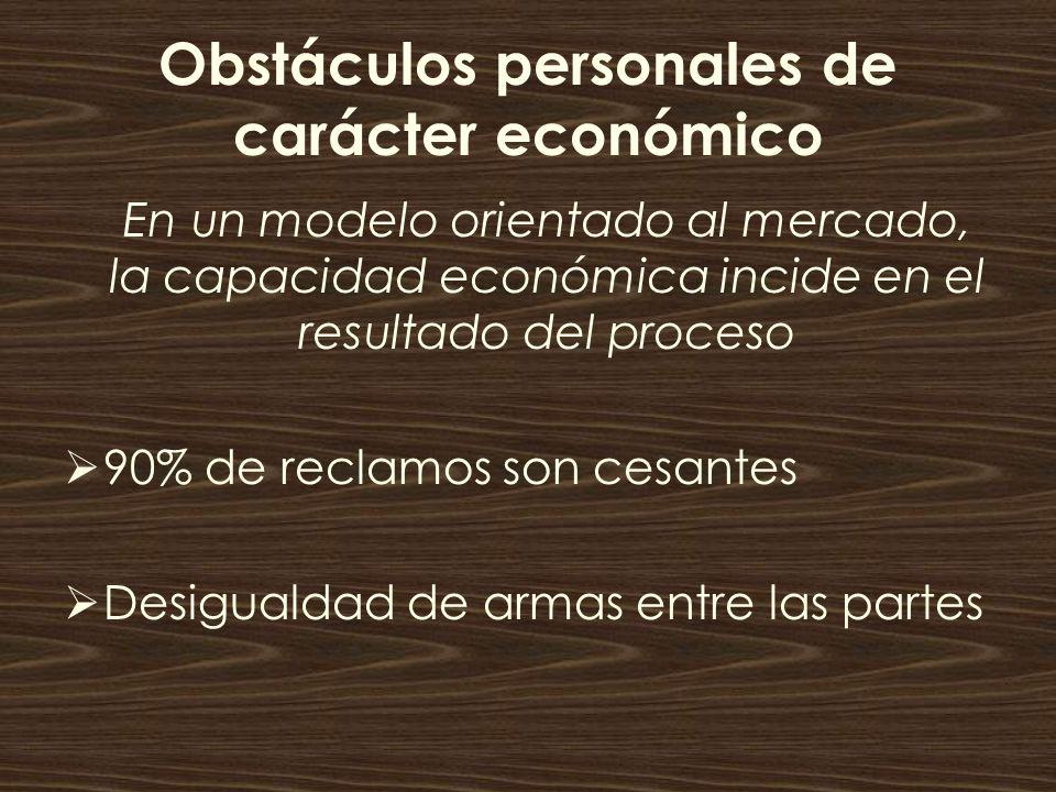 Obstáculos personales de carácter económico