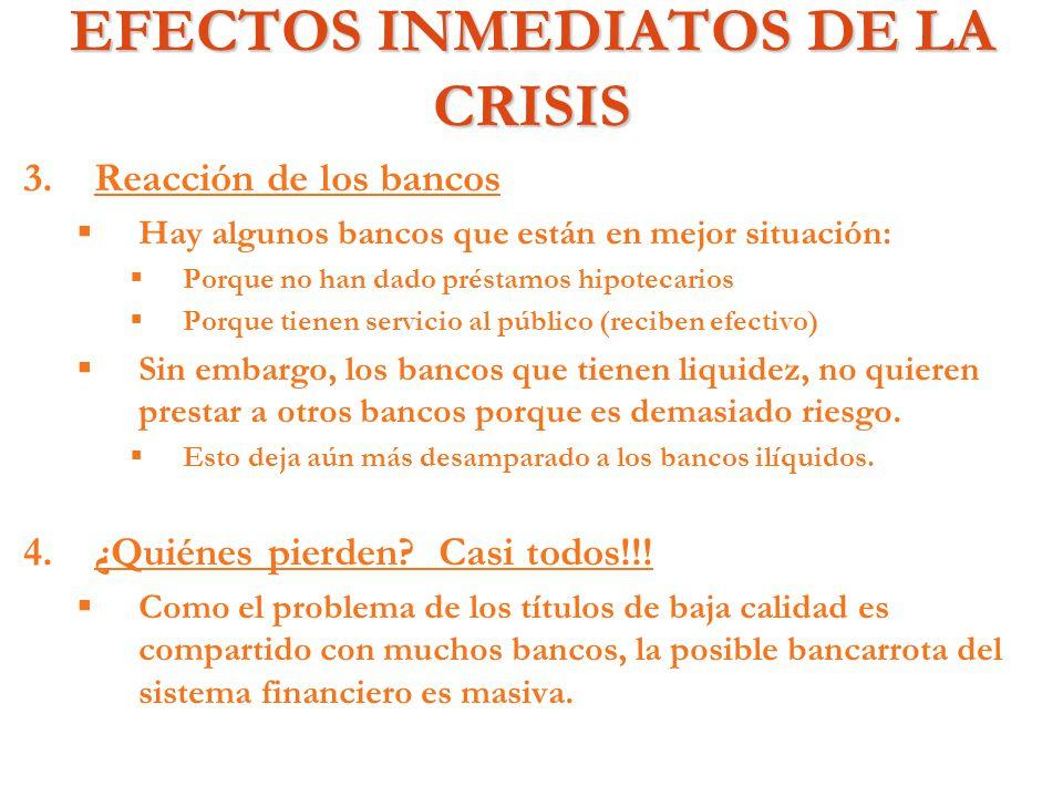 EFECTOS INMEDIATOS DE LA CRISIS