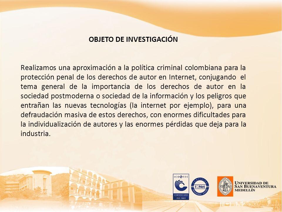 OBJETO DE INVESTIGACIÓN