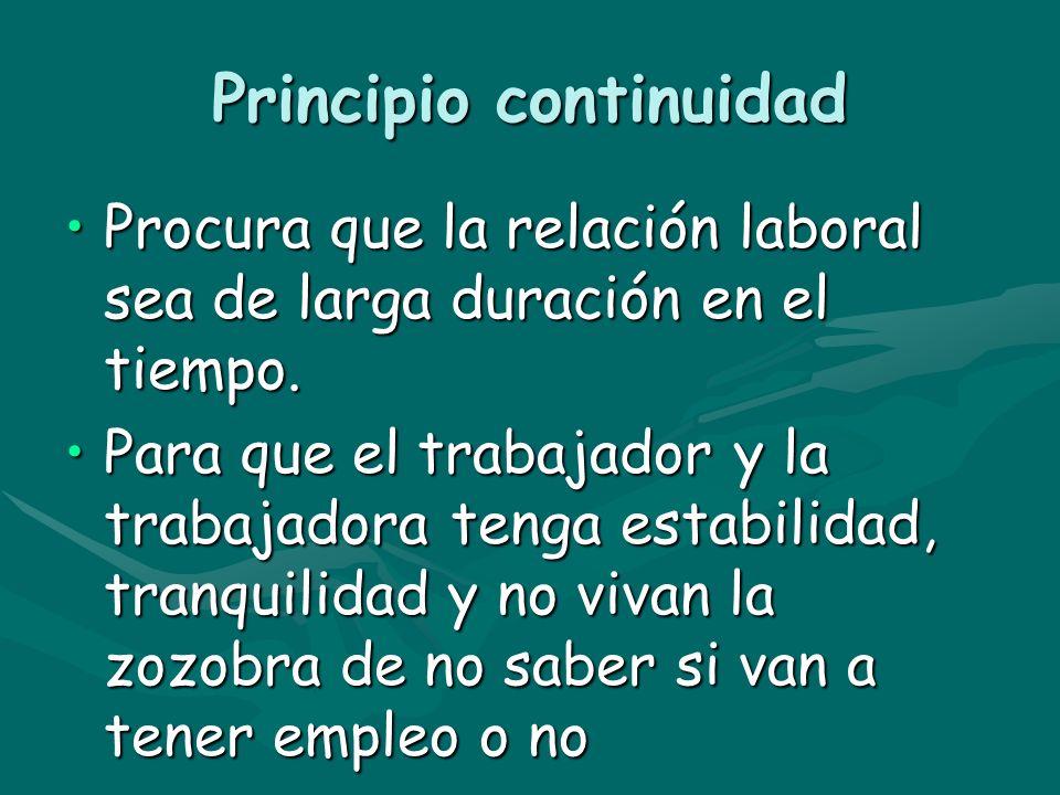 Principio continuidad