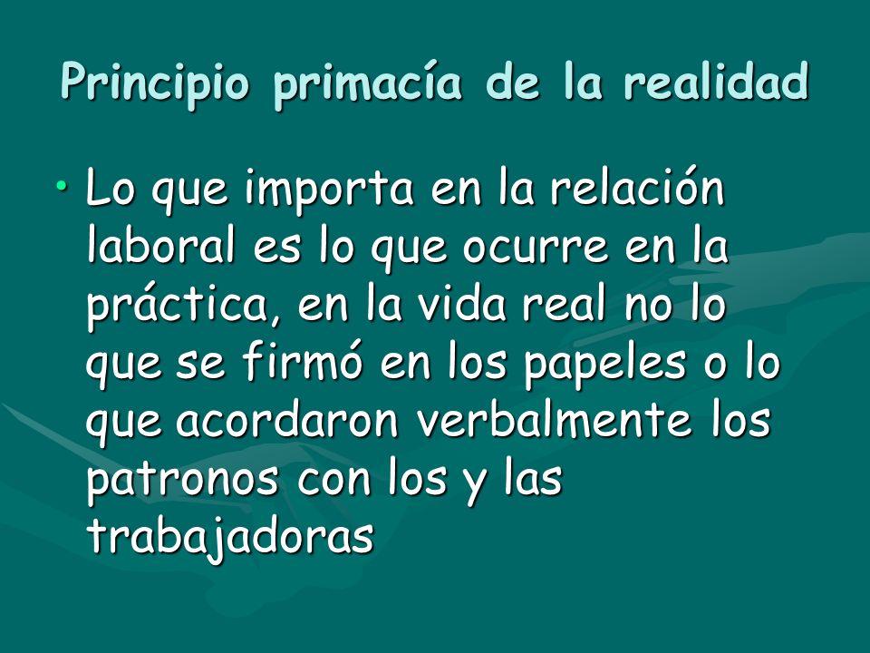 Principio primacía de la realidad
