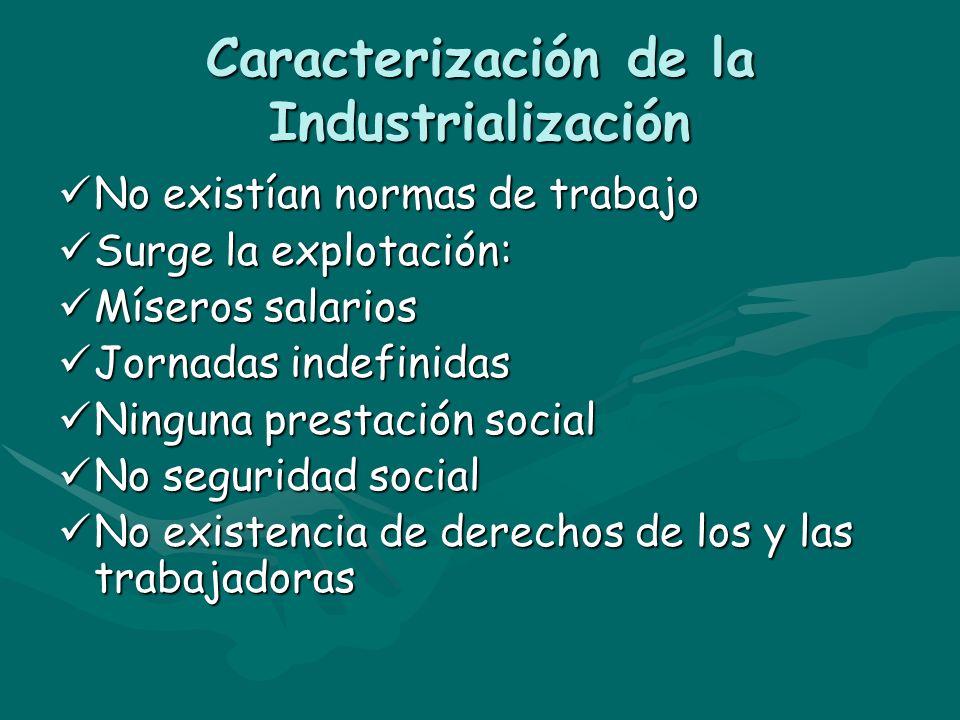 Caracterización de la Industrialización