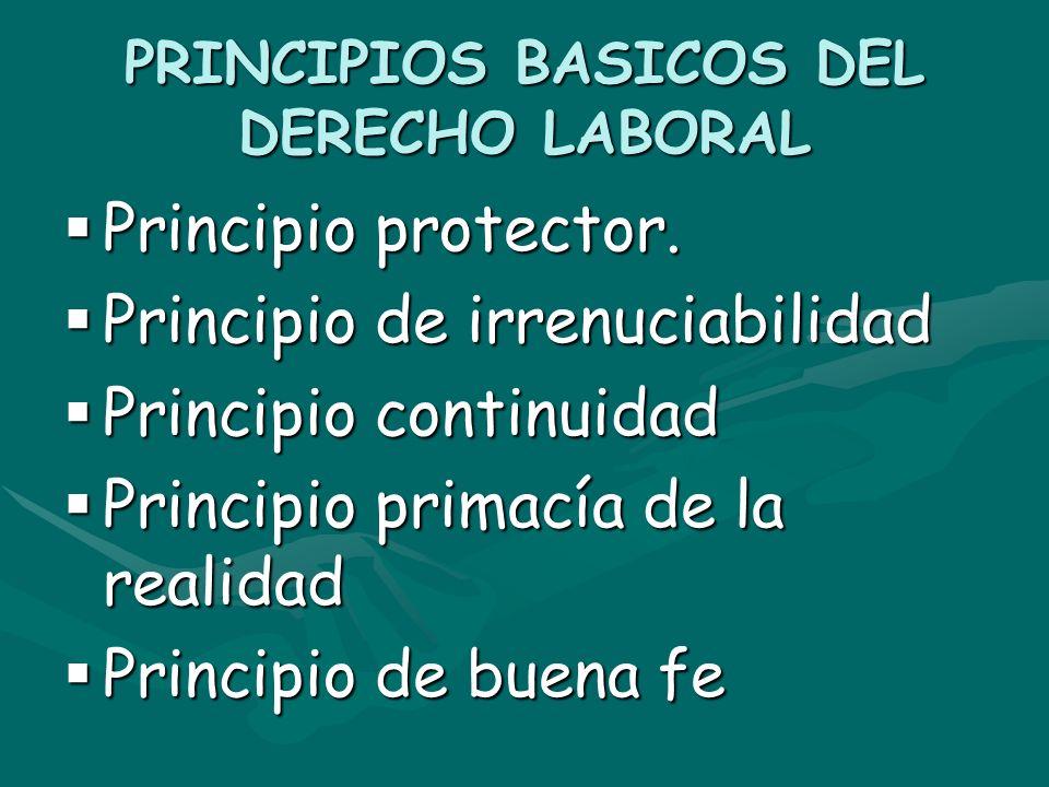 PRINCIPIOS BASICOS DEL DERECHO LABORAL