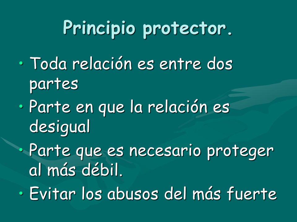 Principio protector. Toda relación es entre dos partes